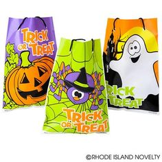 "5.5""X7.5""HALLOWEEN DRAWSTRING GOODY BAG (36PC/UN) Pass out your Halloween prizes in these 7.5-inch Drawstring Halloween Goody Bags. Fill them with candy, toys or accessories at your Halloween or harvest party. 36 pieces per unit. #halloween #trickortreat #goodybag"