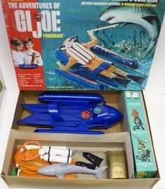 1969 GI Joe Adventure Team 'Shark's Surprise' & 'Sea Adventurer' Figure COMPLETE