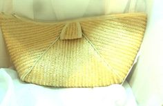 Pale Yellow Vintage Straw Clutch Handbag Purse #unbranded #Clutch