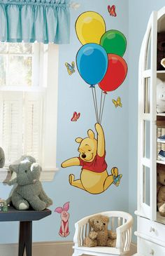 "Disney ""Pooh & Piglet"" Wall Decal Cutouts for Home Decor"