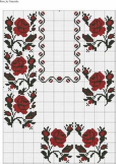 Cross Stitch Bookmarks, Cross Stitch Bird, Cross Stitch Borders, Cross Stitch Flowers, Cross Stitching, Cross Stitch Patterns, Folk Embroidery, Ribbon Embroidery, Cross Stitch Embroidery