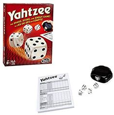 Amazon.com: YAHTZEE Classic: Toys & Games Yahtzee Game, Dice Games, Fun Games, Rainy Day Games, Reds Game, Classic Board Games, Family Game Night, Card Games, Cards
