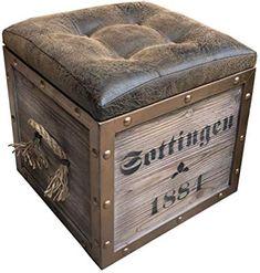 Simple Furniture, Metal Furniture, Industrial Furniture, Furniture Plans, Furniture Design, Crate Storage, Storage Chest, Pallet Crates, Man Cave Diy