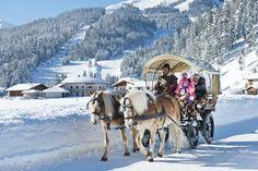 Kutschenfahrt mit der Familie, Achenkirch, Sporthotel Achensee, Haflinger, Christlum
