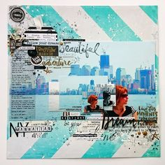 New York, New York - punkrose.hu scrapbook layout, mixed media