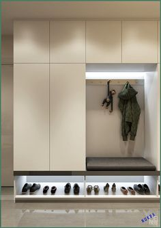 Entryway and Hallway Decorating Ideas eingang Stauraum Latest Cupboard Designs, Bedroom Cupboard Designs, Wardrobe Design Bedroom, Hall Wardrobe, Hallway Closet, Hallway Storage, Ikea Hallway, Closet Shelving, Storage Room