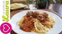 Pasta con Albondigas Espagueti a la Boloñesa Comida Saludable