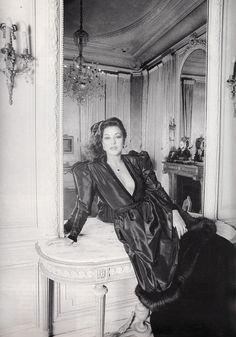 Manuela Papatakis wear Jean-Louis Scherrer at chez Harry Winston, Vogue Paris - December 1980, Photographed by Henry Clarke