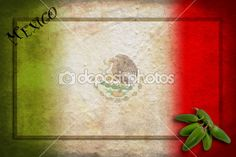 Mexican flag with jalapeno