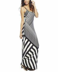 Wet Seal Women's Striped Maxi Dress