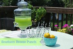 An easy summer punch for a hot day, Southern Breeze punch from Southern Living.