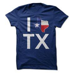 I Love Texas - I love Texas. (Funny Tshirts)