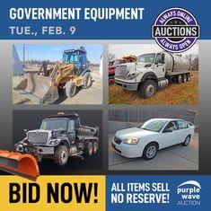 Purple Wave Auction (@purplewave) / Twitter Heavy Duty Trucks, Used Equipment, Used Trucks, Sale Promotion, Online Marketing, Tractors, Monster Trucks, Auction, Waves