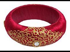 Latest silk thread bangles designs for bridal and party wear. new models Stylish Silk Thread Bangles For Every Woman. Silk Thread Bangles Design, Silk Bangles, Bridal Bangles, Thread Jewellery, Diy Jewellery, Indian Jewellery Design, Indian Jewelry, Jewelry Design, Bangles Making