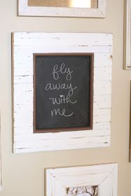 Paint the glass with chalkboard paint. Love it