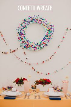 DIY Confetti Wreath