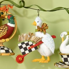 MacKenzie-Childs - Laying Goose Ornament