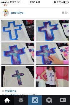 galaxy cross tye-dye shirt
