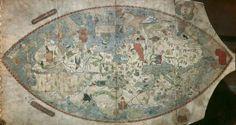 Planisphere, Anonymous Genoese, c. 1457