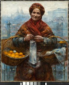 pomaranczarka - Lady with oranges. Aleksander Gierymski. '80s of XIX century Poland. This painting has just been restored to its original colors. It is so vivid compared to what I remember. Beautiful