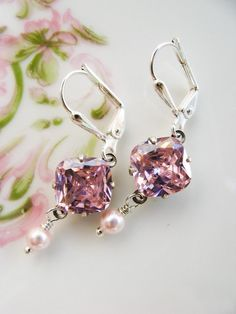 New 8mm Rose/Pink Simulated Cubic Zirconia by HisJewelsCreations