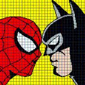 SPIDERMAN VS BATMAN Graphghan Pattern - via @Craftsy