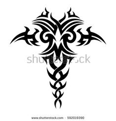 Black Cutout Tribal Dragon Tattoo Vector Stock Vector (Royalty Free) 474399604 - Tribal drawing for tattoo and design things. Tribal Arm Tattoos For Men, Tribal Dragon Tattoos, Tribal Sleeve Tattoos, Arm Tattoos For Guys, Tattoos Arm Mann, Bull Tattoos, Body Art Tattoos, Dragon Tattoo Vector, Dragon Tattoo Back