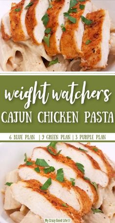 This Weight Watchers Cajun Chicken Alfredo is a healthy dinner your whole family will love! This recipe is a spicy take on your favorite alfredo recipe that is so easy to make in the Instant Pot, Crockpot or on the stove top! Poulet Weight Watchers, Weight Watchers Meal Plans, Weight Watcher Dinners, Weight Watchers Chicken, Weight Watcher Crockpot Recipes, Healthy Chicken Recipes, Easy Healthy Recipes, Quick Easy Meals, Easy Dinner Recipes