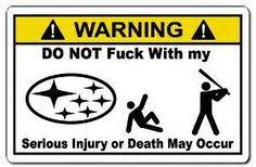 Funny Subaru Stickers