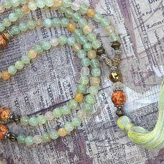 Jade hermosa collar de cuarzo piedras preciosas por look4treasures