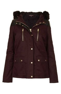 Topshop Faux Fur Trim Parka | Nordstrom ($150.00) - Svpply