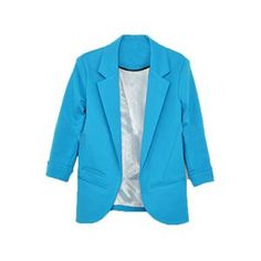 Rolled Cuffs Blue Blazer.Blue blazer, featuring unique lapel down the front, seven sleeves, rolled cuffs, buttoned front, twin patch pockets on lower body, regular length. This blazer you can mix with cropped pants and chiffon shirt, flat shoes for a business negotiation. - See more at: http://pariscoming.com/en-rolled-cuffs-blue-blazer-p149187.htm#sthash.KtlsPHFJ.dpuf