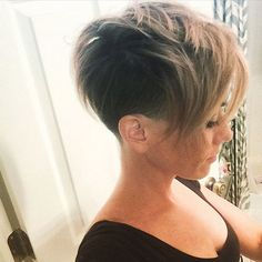 Ash Blonde Pixie Cuts