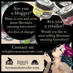 Wanna test our products? You have blog? Contact us! Wanna be our reseller? We work worldwide and we are looking for you.. Email: Info@hermanshaircolor.com www.hermanshaircolor.com Cool Hair Color, Cool Hairstyles, Lost, Amazing Hair, Products, Recipes, Fancy Hairstyles, Gadget