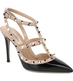 VALENTINO - Rockstud patent leather courts | Selfridges.com
