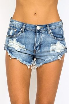 Stitch Fix: obsessed with these distress and rolled hem cutoffs. One Teaspoon Bandit cut-off shorts in hendrix