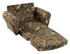 Camo Sleepover Chairs For Kids   Mossy Oak Break Up Infinity Pattern