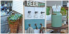 How to DIY an Uber Charming Backyard Beer Garden  - CountryLiving.com