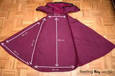 fleetingthing » Frozen Anna winter costume (free pattern and tutorial + stencils)