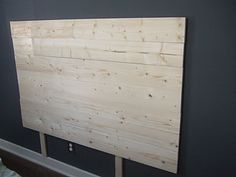 DIY Headboard: with a thicker backing board this can have a top plate for a shelf!  Yes, I'm SO doing this!!