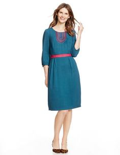 Carla Dress WH698 Day Dresses at Boden viscose