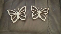 Scroll saw cut butterflies
