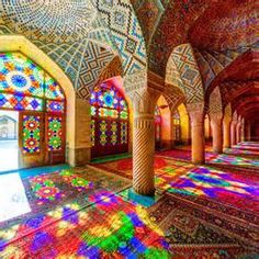 Nasīr al-Mulk Mosque in Shiraz, Iran