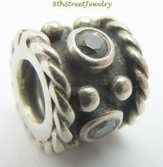 RETIRED Pandora European Bead Charm Sterling Silver 925 Oxy Crown, cz 790221CZ #Pandora #European