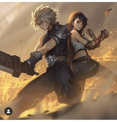 Final Fantasy Xv Prompto, Final Fantasy Collection, Final Fantasy Characters, Dark Fantasy Art, Cloud And Tifa, Cloud Strife, Overwatch Fan Art, Character Illustration, Alexis Rhodes