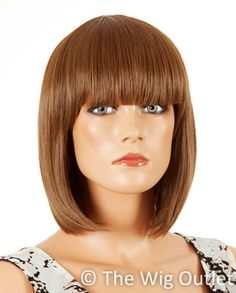 DELUXE Ally Bob Ally is a short classic bob with a blunt fringe or you can sweep it to the side.Monofilament capless with adjustable size straps Heat Resistant High Quality Synthetic. www.thewigoutlet.com.au