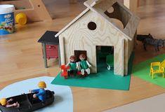 Schleich, Playmobil, Test, Stall, Haus, Bauernhof, Hütte, aus Holz, selber bauen, basteln, Vorlage, spielen