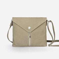 a0259aa37eb0 The Crossbody - tan grey leather crossbody bag - Poppy Barley Grey Leather