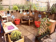 """Love this Mud Kitchen at St Mary's, Manchester Day Nursery ("""",)"""