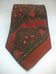 "90's Ralph Lauren Neck Tie/Polo Tie/Demask Neck Tie/Fathers Day Gift/Groomsmen Gift/Business Tie/Office Tie/Paisley Tie/60""Long/4""Wide by aLaRoad on Etsy"